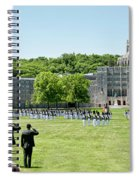 Corps Of Cadets Present Arms Spiral Notebook
