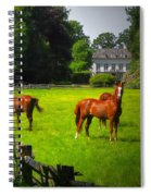 Corralled Horses - Featured In And Lets All Participate And Abc Groups Spiral Notebook