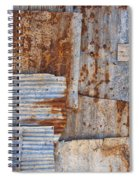Corrugated Iron Background Spiral Notebook