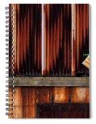 Corrugated Steel Mill Wall Alton Il Spiral Notebook