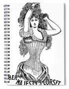 Corset Advertisement  1897 Spiral Notebook