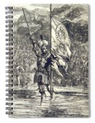 Cortez Claiming Mexico For Spain, 1519 Spiral Notebook
