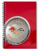 Corvette At The Beach Spiral Notebook