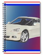 Corvettes In Red White And True Blue Spiral Notebook