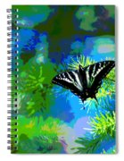 Cosmic Butterfly In The Pines Spiral Notebook