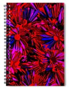 Cosmic Flower Wall Spiral Notebook