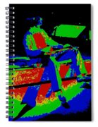 Cosmic Motor Scooter In Spokane 1977 Spiral Notebook