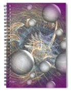 Cosmic Purple Spiral Notebook