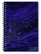 Cosmic Tree Blue Spiral Notebook