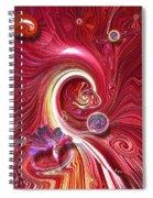 Cosmic Waves Spiral Notebook