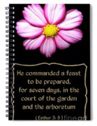Cosmos Flower With Bible Quote From Esther Spiral Notebook