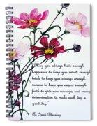 Cosmos Poem Spiral Notebook