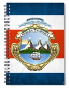 Costa Rica Coat Of Arms And Flag  Spiral Notebook