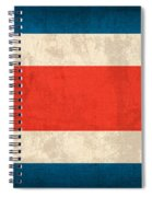 Costa Rica Flag Vintage Distressed Finish Spiral Notebook