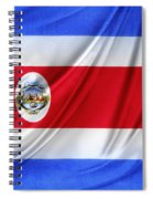 Costa Rican Flag Spiral Notebook