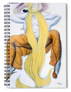 Costume Design For A Bacchic Dancer Spiral Notebook