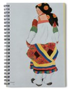 Costume Design For A Peasant Girl, 1922 Spiral Notebook