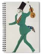 Costume Design For Paganini In The Enchanted Night Spiral Notebook