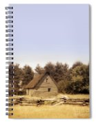 Cottage And Splitrail Fence Spiral Notebook