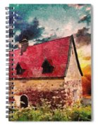Cottage By The Sea - Abstract Realism Spiral Notebook