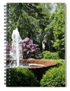Cottage Garden Fountain Spiral Notebook