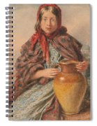 Cottage Girl Seated With A Pitcher Spiral Notebook