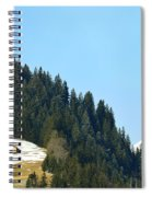 Cottage In Alps Spiral Notebook
