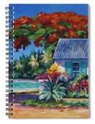 Cottage On 7-mile Beach Spiral Notebook