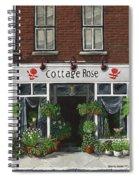 Cottage Rose Spiral Notebook