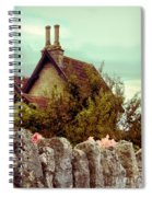 Cottage Seen Over A Wall Spiral Notebook