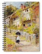 Cottages   A Row Of Cottages Spiral Notebook