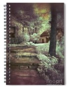 Cottages In The Woods Spiral Notebook