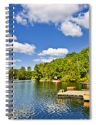 Cottages On Lake With Docks Spiral Notebook