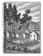 Cotton Factory Village, Glastenbury, From Connecticut Historical Collections, By John Warner Spiral Notebook