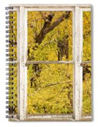 Cottonwood Fall Foliage Colors Rustic Farm Window View Spiral Notebook