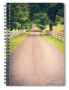 Country Back Roads Spiral Notebook