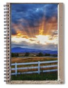 Country Beams Of Light Pealing Picture Window Frame Vie Spiral Notebook