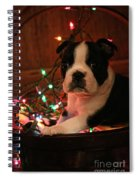Country Christmas Puppy Spiral Notebook