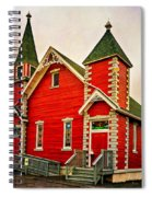Country Church Paint Spiral Notebook