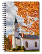 Country Church Under Fall Colors Spiral Notebook