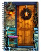Country Cottage Door At Christmas Spiral Notebook