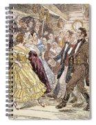 Country Dance, 1820s Spiral Notebook