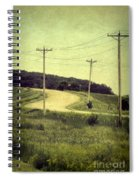 Country Dirt Road And Telephone Poles Spiral Notebook
