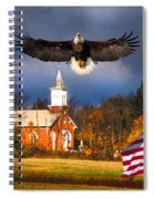country Eagle Church Flag Patriotic Spiral Notebook