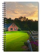 Country Estate Sunset Spiral Notebook