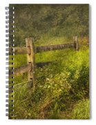 Country - Fence - County Border  Spiral Notebook