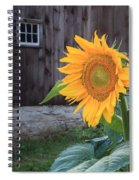 Country Flower Square Spiral Notebook