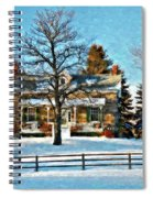Country Home Watercolor Spiral Notebook
