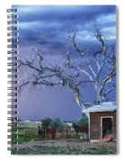 Country Horses Lightning Storm Ne Boulder County Co Hdr Spiral Notebook