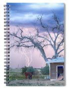 Country Horses Riders On The Storm Spiral Notebook